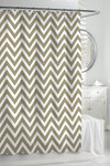 Kassatex Chevron Shower Curtain - White/Linen