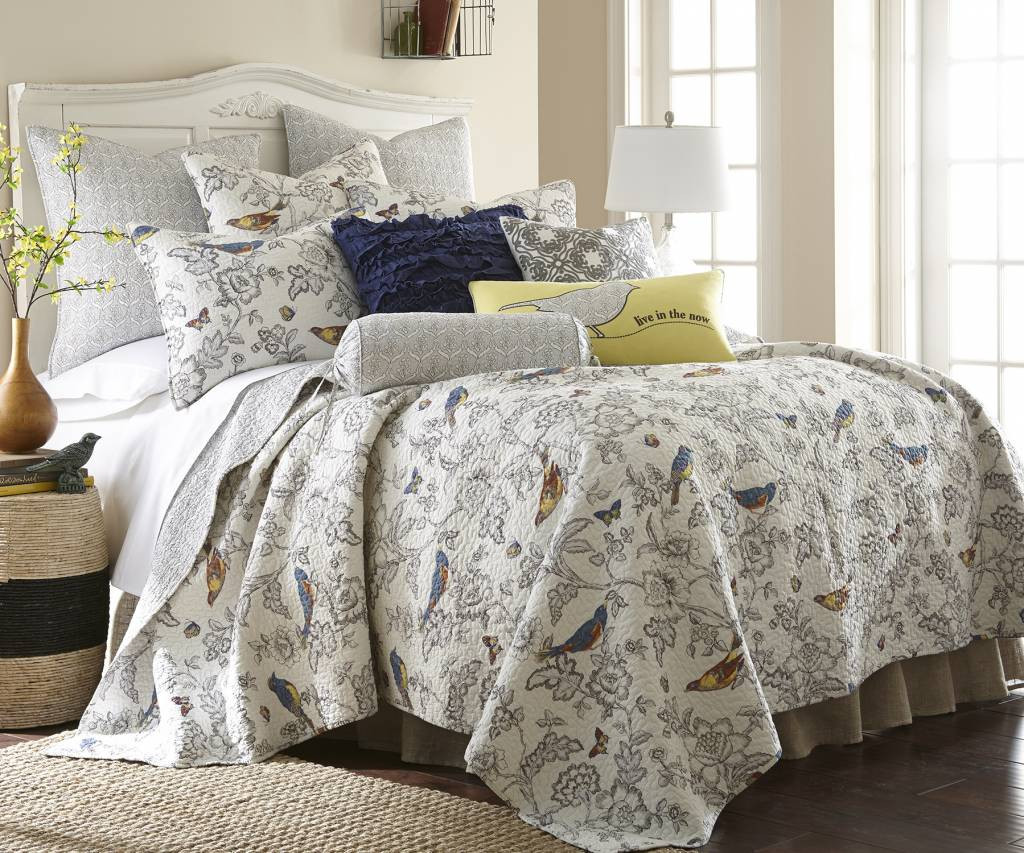 incredible Levtex Home Quilt Set Part - 5: Levtex Mockingbird Quilt Set