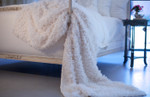 Lili Alessandra Coco White Sheer Throw