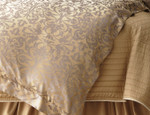 Lili Alessandra Jackie Champagne-Silver Jacquard Duvet Cover