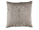 Lili Alessandra Morocco Square Pillow - Taupe / Fawn Velvet