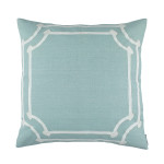 Lili Alessandra Angie Euro Pillow - Spa Linen/White Linen Appliqué
