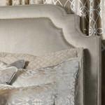 Lili Alessandra Marilyn Upholstered Headboard - Silver Velvet