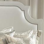 Lili Alessandra Marilyn Upholstered Headboard - White Linen