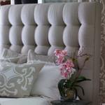 Lili Alessandra Lynn Upholstered Headboard - Natural Linen
