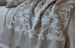 Lili Alessandra Louie Throw - Natural Linen/White Linen