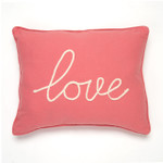 Levtex Love Pillow - Coral