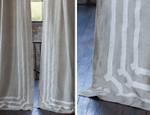 Lili Alessandra Angie Drapery Panel - Natural Linen/White Linen