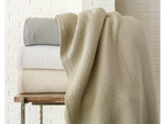Peacock Alley Riviera Blanket - Linen