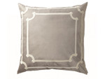 Lili Alessandra Versailles European Pillow - Silver Velvet / Ivory Velvet