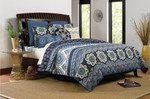 Greenland Home Medina Indigo Quilt Set