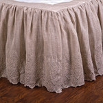 Pom Pom at Home Annabelle Flax Bed Skirt