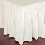 Pom Pom at Home Gathered Linen Bed Skirt - Cream