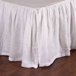 Pom Pom at Home Linen Voile Bed Skirt - White