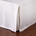 Pom Pom at Home Pleated Linen Bed Skirt - White