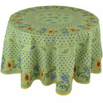 Provence Cotton Tablecloths - Sunflower Green