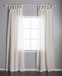 Pom Pom at Home Linen Voile Tie Top Cream Curtain