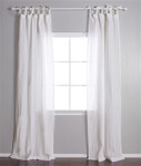 Pom Pom at Home Tie Top Cream Curtain