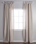 Pom Pom at Home Tie Top Flax Curtain