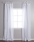 Pom Pom at Home Tie Top White Curtain