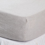 Pom Pom at Home Linen Fitted Sheet - Flax