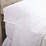 Pom Pom at Home Charlie Flat Sheet - White