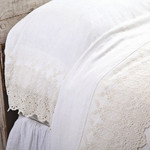 Pom Pom at Home Annabelle Flat Sheet - Cream