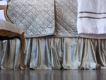 Lili Alessandra Chloe Ice Silver Velvet Gathered Bedskirt