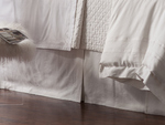 Lili Alessandra Casablanca Tailored Bedskirt - White Linen