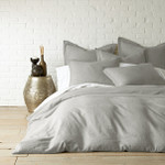 Levtex Washed Linen Duvet Cover - Lt Grey