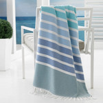 Kassatex Bodrum Beach Towel - Multi Blue