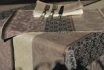 Jacquard Weave French Tablecloth - L'Etoile Black