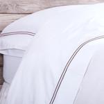 Pom Pom at Home Cotton Sateen Sheet Set - White / Grey Stone