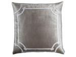 Lili Alessandra Angie Square Pillow - Fawn Velvet / Ivory Velvet