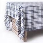 Pom Pom at Home Bistro Checker Tablecloth - Off White/Grey