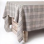 Pom Pom at Home Bistro Checker Tablecloth - Natural/Grey