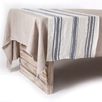 Pom Pom at Home Bistro Stripe Table Runner - Off White/Grey
