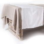 Pom Pom at Home Olivier Table Runner - White