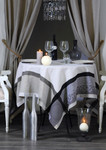 Jacquard Weave French Tablecloth - Barocos Natural
