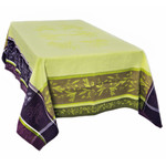 Jacquard Weave French Tablecloth - Olea Green