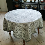Jacquard Weave French Tablecloth - La Roman Grey