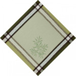 Jacquard Weave Cotton Napkin - Olive Green