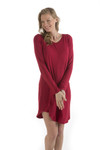 Bamboo Dreams® Norah Nightshirt - Cranberry