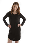 Bamboo Dreams® Norah Nightshirt - Black