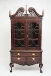 Laurel Crown Chippendale Display Cabinet