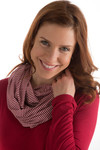 BambooDreams® Infinity Scarf - Cranberry Micro Stripe