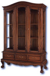 Laurel Crown Chippendale 3 Door China Hutch
