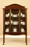 Laurel Crown Queen Anne Curio Cabinet