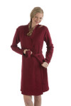 BambooDreams Shiloh Sweatshirt Robe - Cranberry