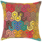 Pine Cone Hill Geodesic Embroidered Decorative Pillow